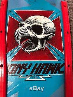 TONY HAWK SKATEBOARD Deck Vintage. Powell Peralta Bones Brigade. Chicken Skull