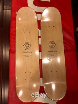 Takashi Murakami Black Red Flower Supreme Skateboard Decks Damien Hirst Obey