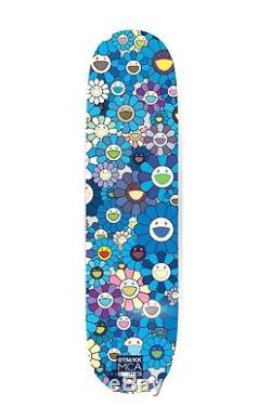 Takashi Murakami X ComplexCon Blue Skate Deck Flower 8.0 Skateboard MCA