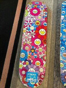 Takashi Murakami x ComplexCon Blue/Pink Flower Skateboard Decks