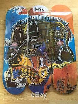 The Skateroom X J. M Basquiat Skate Decks Set Of Three Skull Ltd Edt Rare
