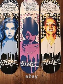 Think OOPs I Think I Did It Again Privileged Paparazzis Skateboard Deck Set