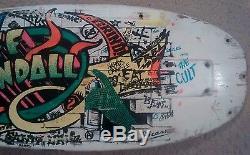 USED / Santa Cruz Jeff Kendall graffiti old school skateboard deck / VTG OG