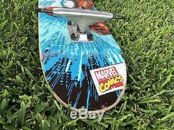 Used Iron Man Santa Cruz x Marvel Skateboard Deck And Trucks