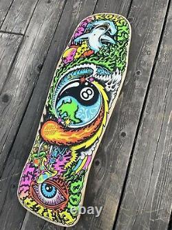 Used Santa Cruz Erick Winkowski Dope Planet 1 Skateboard Deck Rare Pool Vert DP1