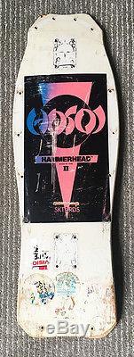 VINTAGE Christian Hosoi Hammerhead II Skateboard Deck 80's Original Pink SKTBRDS