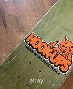 VINTAGE NEW NOS 2002 HOOK-UPS Rival Schools 2 Skateboard Deck SEAN CLIVER 7.5