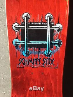 Very Rare 1987 NOS MINT Schmitt Stix John Lucero X 2 Skateboard Deck
