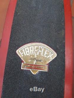 Vintage 1970s skateboard fibreflex deck kryptonic reds acs651 trucks