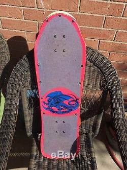 Vintage 1980's Powell Peralta Mike McGill skull & snake skateboard deck