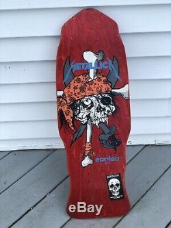 Vintage 1980's Zorlac Pushhead Pirate Skull Metallica Skate Board Deck RARE