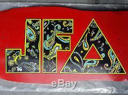 Vintage 1985 JFA Original 11 skateboard Deck Jodie Fosters Army Band Board