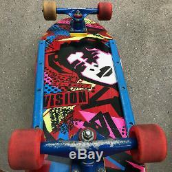Vintage 1985 Original Vision Mark GONZ Gonzales Skateboard Deck tracker trucks