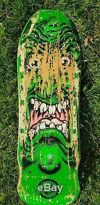 Vintage 1986 Santa Cruz Rob Roskopp Street Face Skateboard Deck Rare Color