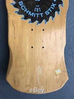 Vintage 1987 Schmitt Stix Rip Saw Skateboard Deck Old