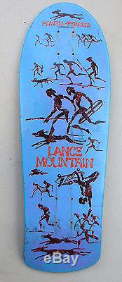 Vintage 80's Powell Peralta Lance Mountain Skateboard Deck Rare Blue DIP 7 Ply