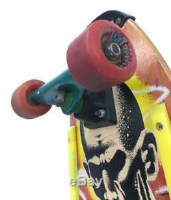 Vintage 80's santa cruz jeff kendall skateboard deck rare with deadbolt trucks
