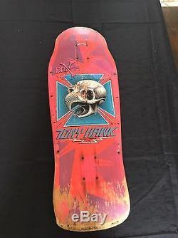 Vintage 80s OG Powell Peralta Tony Hawk Skateboard Deck Bottle nose