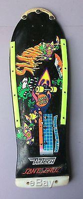 Vintage 80s Santa Cruz Keith Meek Slasher Skateboard Deck