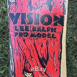 Vintage 80s Vision Lee Ralph Pro Model Contortionist Skateboard Deck Original
