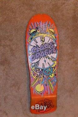 Vintage 87 santa cruz Claus Grabke exploding clocks skateboard deck no! Reserve