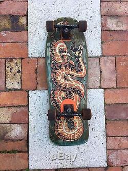 Vintage Jeff Kendall SANTA CRUZ DECK Skateboard Tracker Trucks Snake 80's 1980's