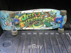 Vintage Jeff Kendall Skateboard Complete deck wheels trucks Santa Cruz ORIGINAL