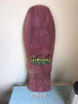 Vintage Marty Jimenez Pro Model Jinx Skateboard Deck 1988 Vision Sports Inc