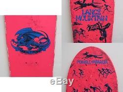 Vintage NOS 1987 Powell Peralta Lance Mountain Skateboard Deck Hot Pink Skater