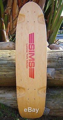 Vintage NOS SIMS Lonnie Toft Skateboard Deck 1970s