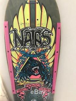 Vintage Natas Kaupas Panther 1988 -Santa Monica Airlines Skateboard- No zorlac