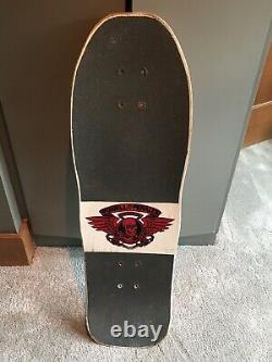 Vintage OG Mike Vallely powell peralta skateboard deck White Dip Tony Hawk