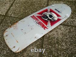 Vintage OG POWELL PERALTA Tony Hawk Pro Model Skateboard Deck Rare Silver 1983