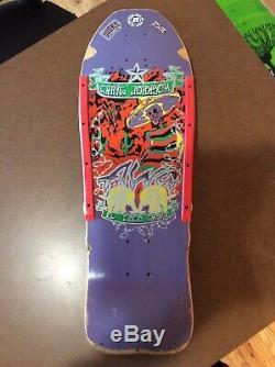 Vintage Old School Alva Craig Johnson El Loco Gringo Tri Tail Skateboard Deck