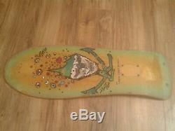 Vintage Original ALVA Chris Cook Design Skateboard Deck Natural/Green/Purple