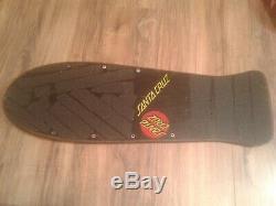 Vintage Original Santa Cruz SLASHER Keith Meek Pro Model Skateboard Deck Black