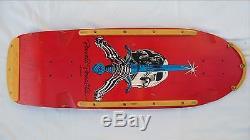 Vintage POWELL PERALTA Skull and Sword Skateboard Deck Dogtown Alva Bones NICE