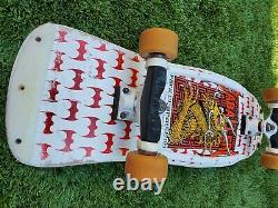 Vintage POWELL PERALTA Steve Caballero 7PLY Rare Complete Skateboard Rare White