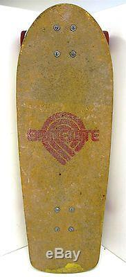 Vintage Powell Peralta Brite Lite Skateboard Deck 1978 RARE YellowithRed