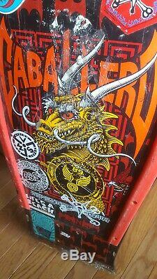 Vintage Powell Peralta Caballero Skateboard Deck Dragon And Bats NOT REISSUE