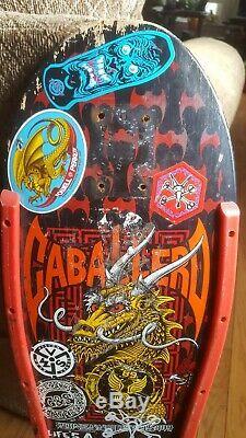 Vintage Powell Peralta Caballero Skateboard Deck Dragon And Bats NOT REISSUE