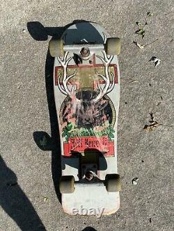 Vintage Santa Cruz Jeff Kendall Deck Skateboard Og Jager Meister Deer Buck Skate