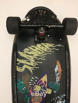 Vintage Santa Cruz Skateboard Keith Meek Slasher RARE! Deck 80s Original