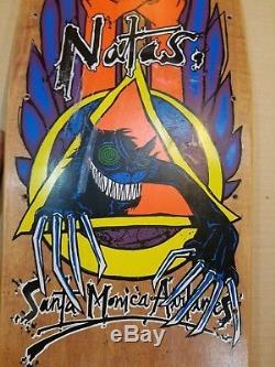Vintage Skateboard Santa Cruz Natas Evil Cat deck