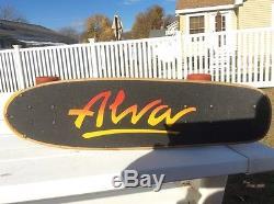Vintage Tony Alva skateboard. Jay Adams vintage skateboard tracker trucks