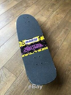 Vintage Valterra Back To The Future Skateboard, Splatter, Madrid, Original Deck