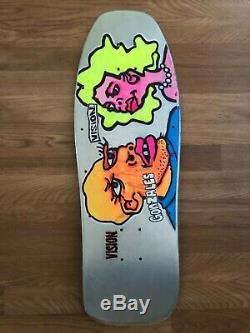 Vintage Vision Mark Gonzales Man And Woman Skateboard Deck 80s OG Rare Gonz