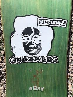 Vintage Vision Mark Gonzales Skateboard Deck / 80s Art Gonz 1988 NOS