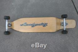 Vintage early 2000s Landyachtz downhill drop deck longboard