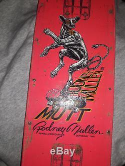 Vintage old school skateboard deck powell peralta Rodney Mullen